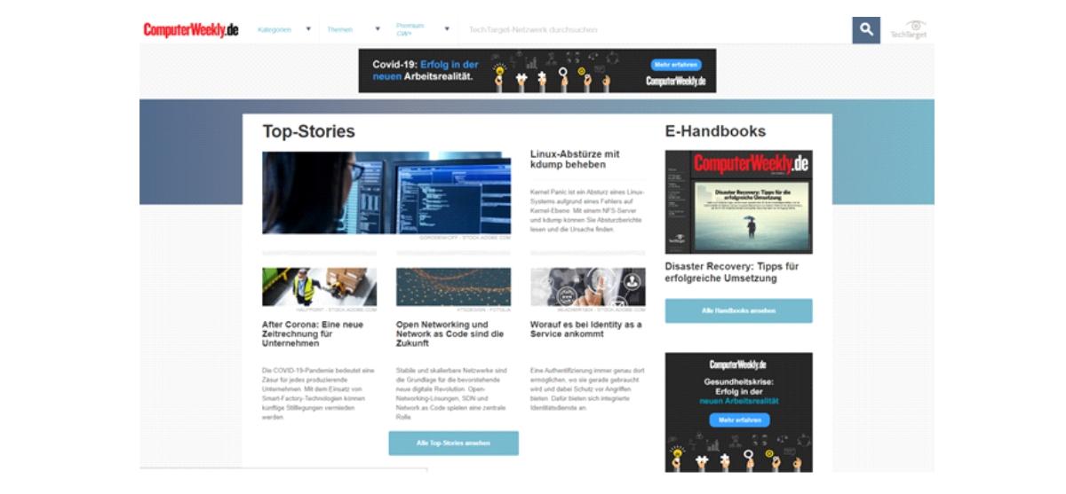 racksnet® schreibt erstmals für renommierte IT-Plattform ComputerWeekly